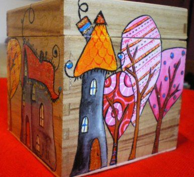 IMGP2156, via Flickr madera Pinterest Cajas, Cajas decoradas