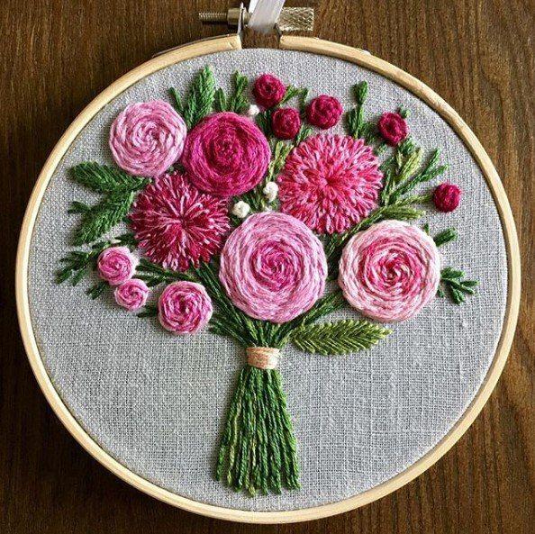 Красная нить – вышивка и рукоделие #embroiderypatternsbeginner
