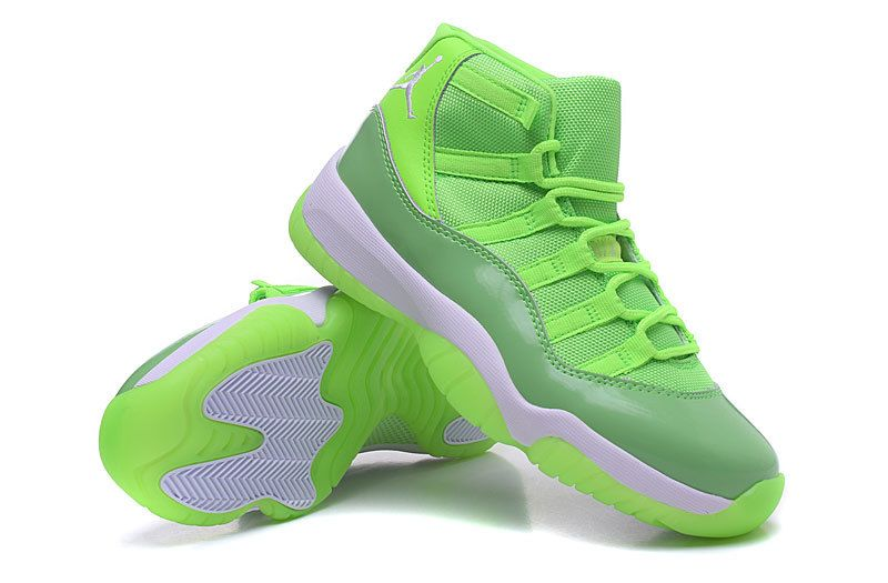 info for e8652 af03a Cheap Air Jordan 11 GS Neon Green Lime Green For Sale