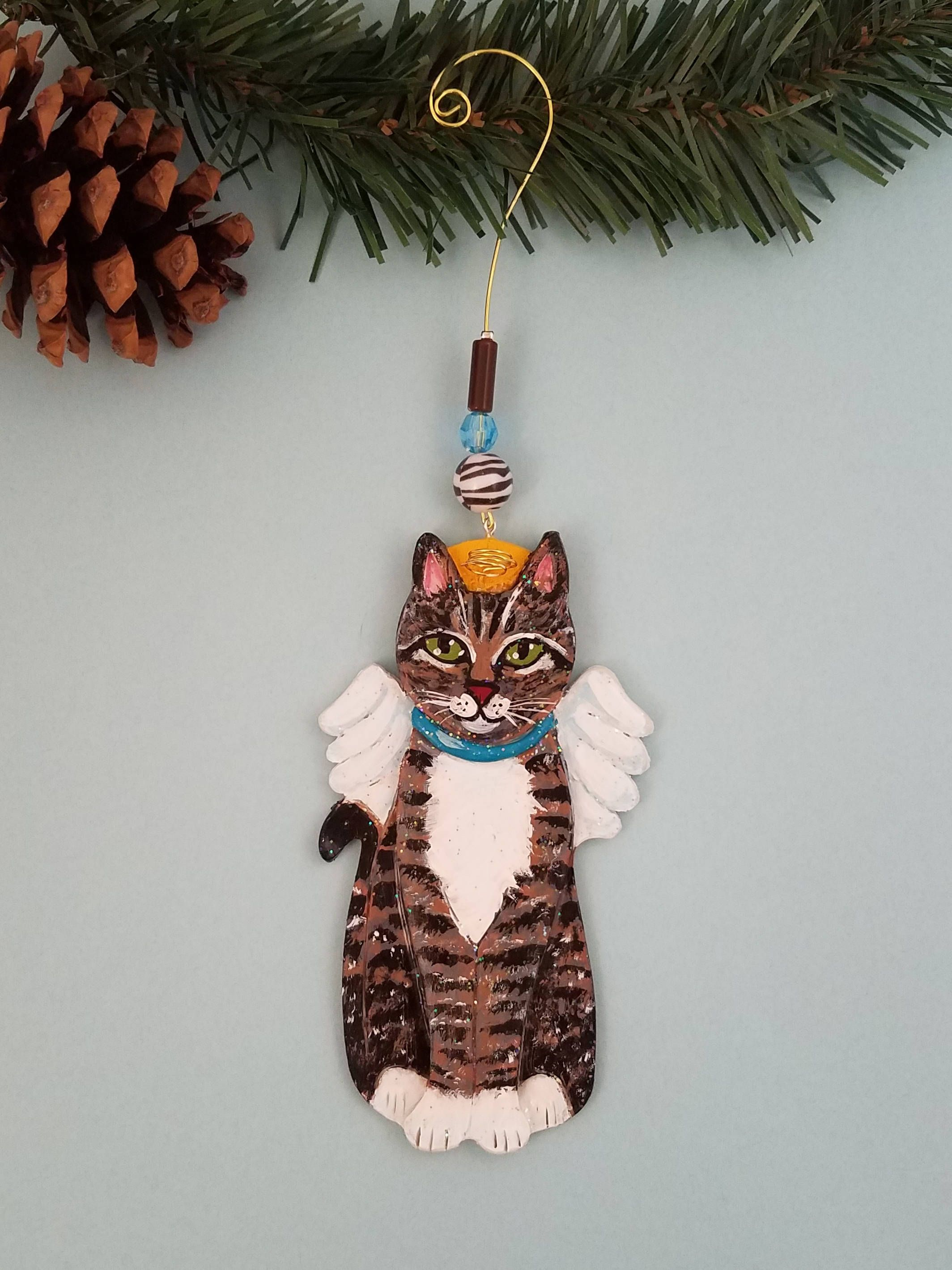 Tabby Cat Angel Ornament ~ Cat Angel ~ Cat Gifts