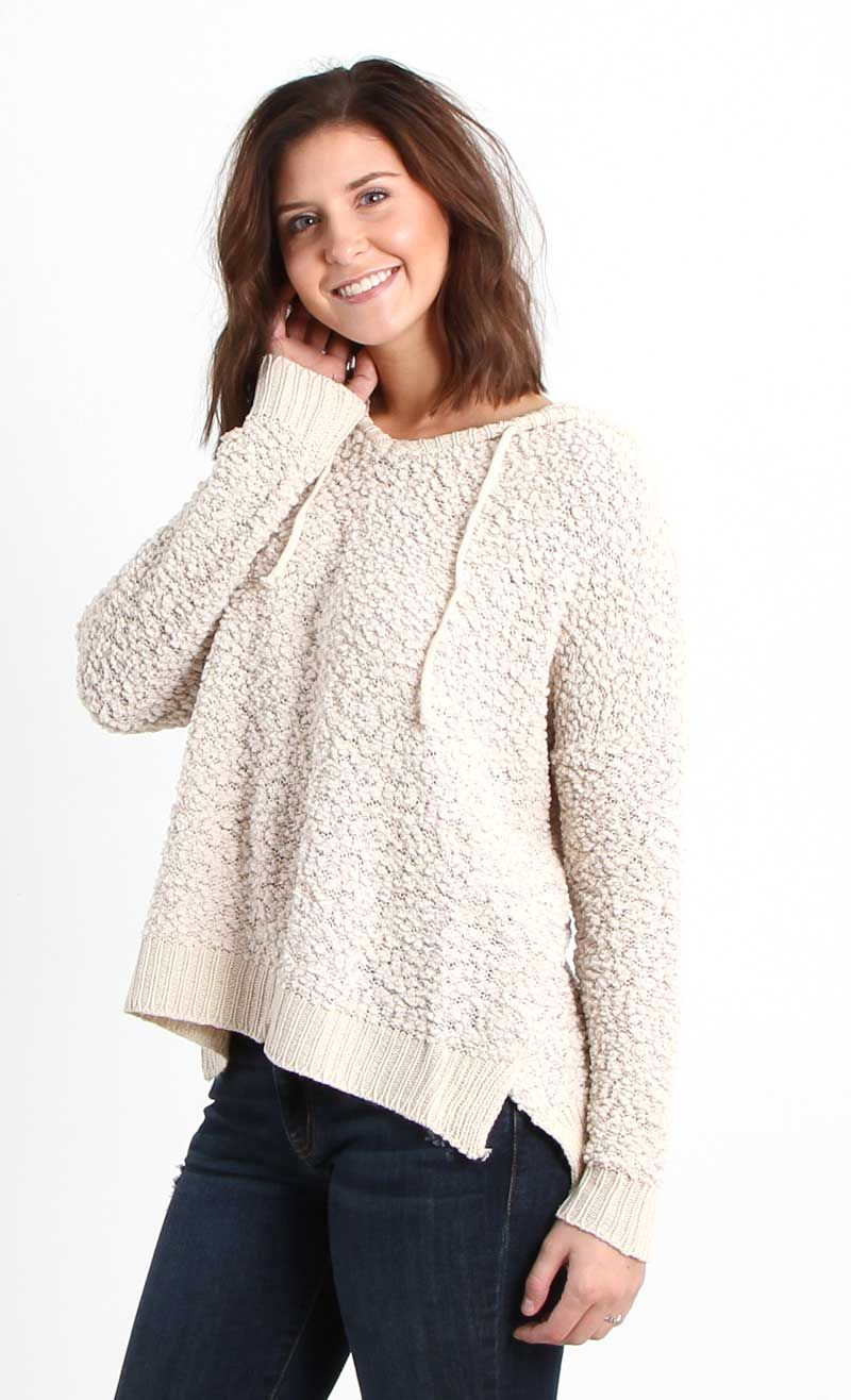 e898ff1d1fea5 Miracle Clothing Hooded Pullover Sweater in Beige | Style in 2019 ...