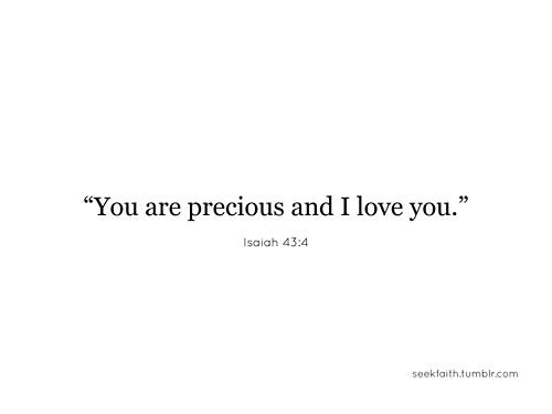 Favorite Words · You Are Precious And I Love You. Isaiah 43:4