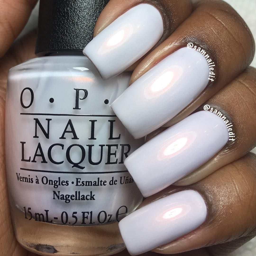 On Dark Skin Pearl White Nail Polish