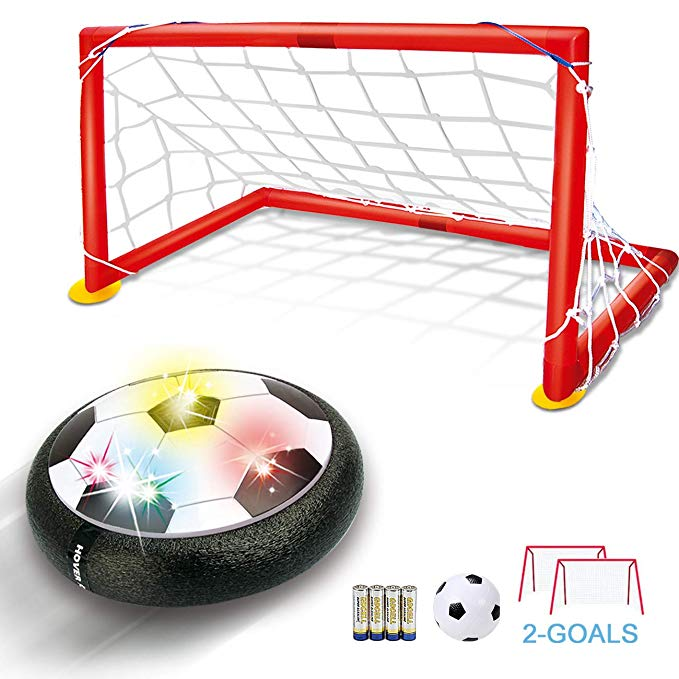 Amazon Com Hover Soccer Ball Kids Toys Tfs Led Air Soccer Set With 2 Goals And Inflatable Ball Indoor Outdoor Kids Soccer Goal Soccer Goal Boy Toy Storage