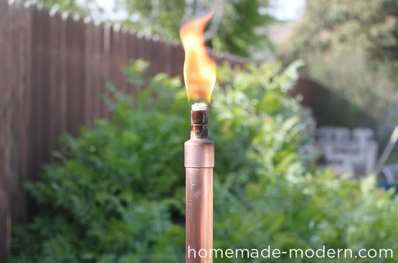 Homemade Modern Diy Copper Tiki Torches Options Outdoor