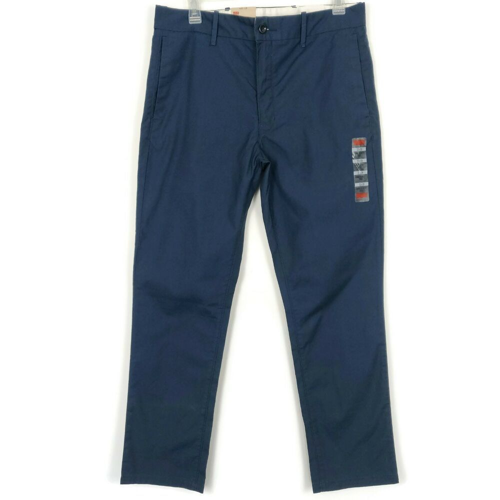Levis 511 chino pant mens size 32 x 30 navy blue slim fit