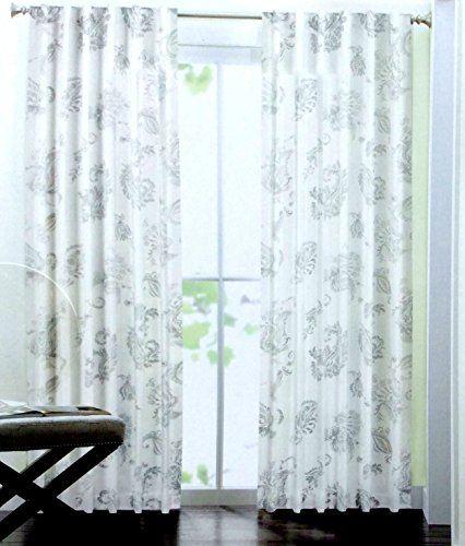 Tahari Home Paisley Scrolls Window Panels By Inch Set Of