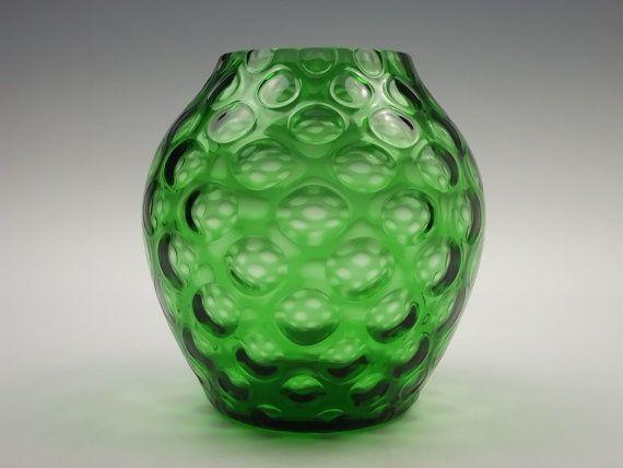 Borske Sklo Green Glass Vase Sklo Pinterest Glass Glass Vase