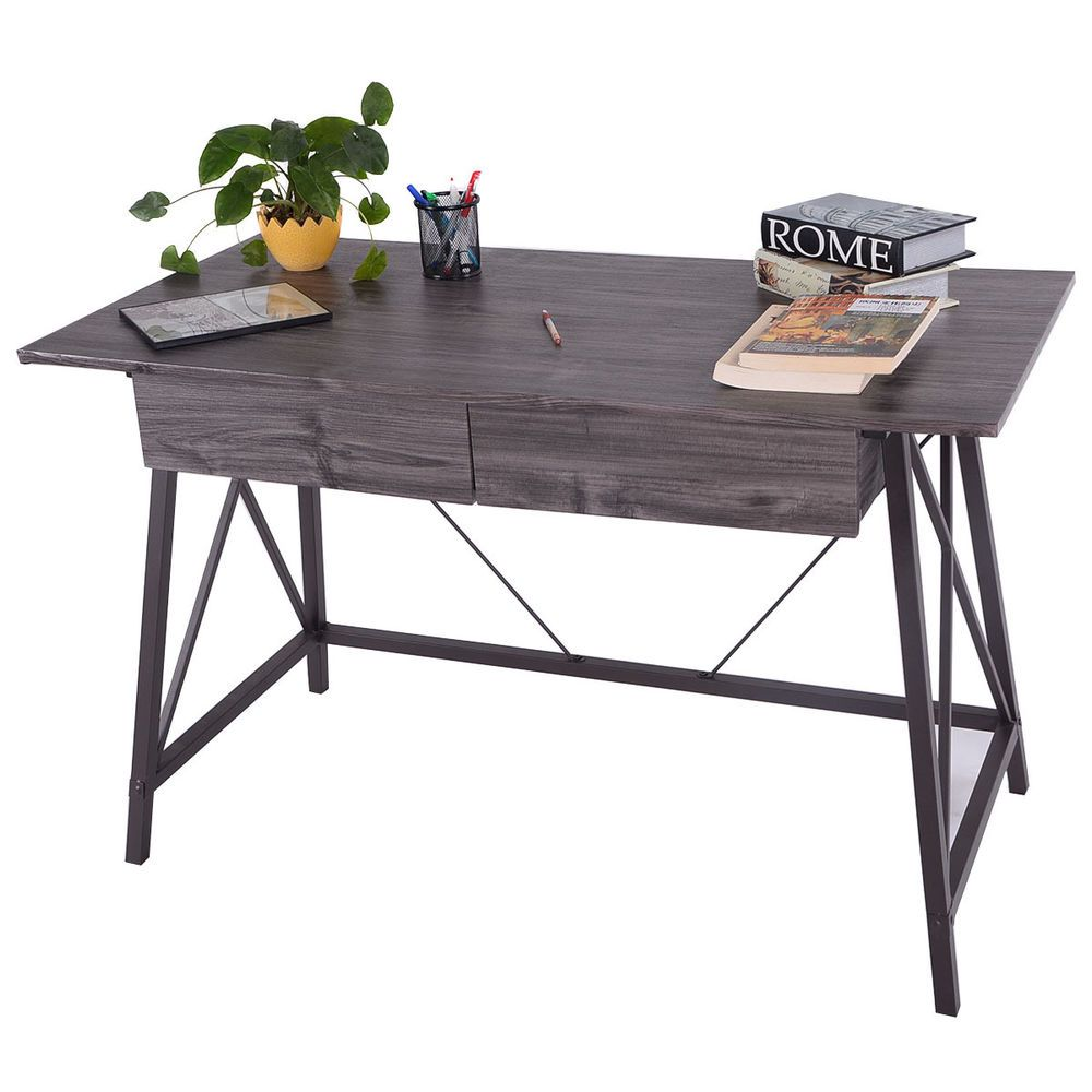 Office folding tables wood writing desk computer table with drawers home office furniture