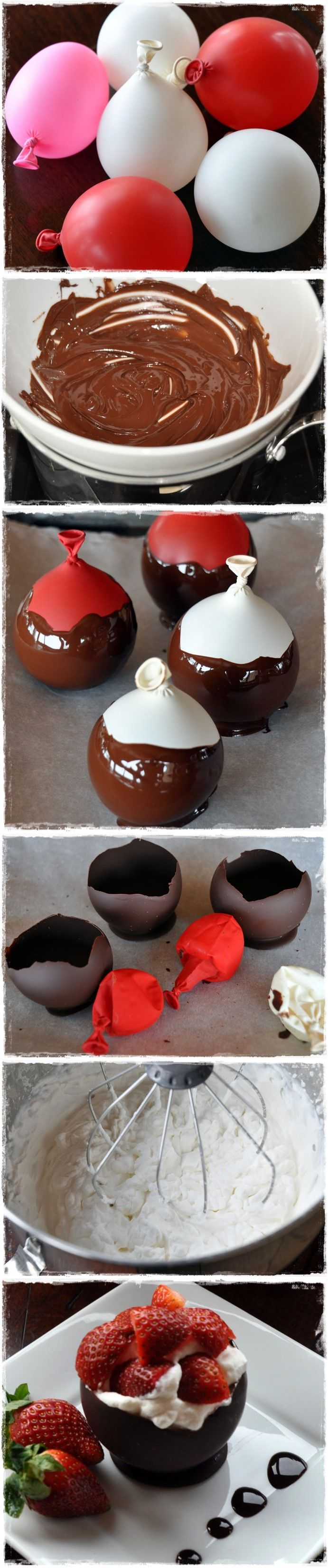 """Chocolate Bowls with Chambord Whipped Cream and Berries...shut the front door. Although, I could totally see this as a """"nailed it!"""" pic!"""