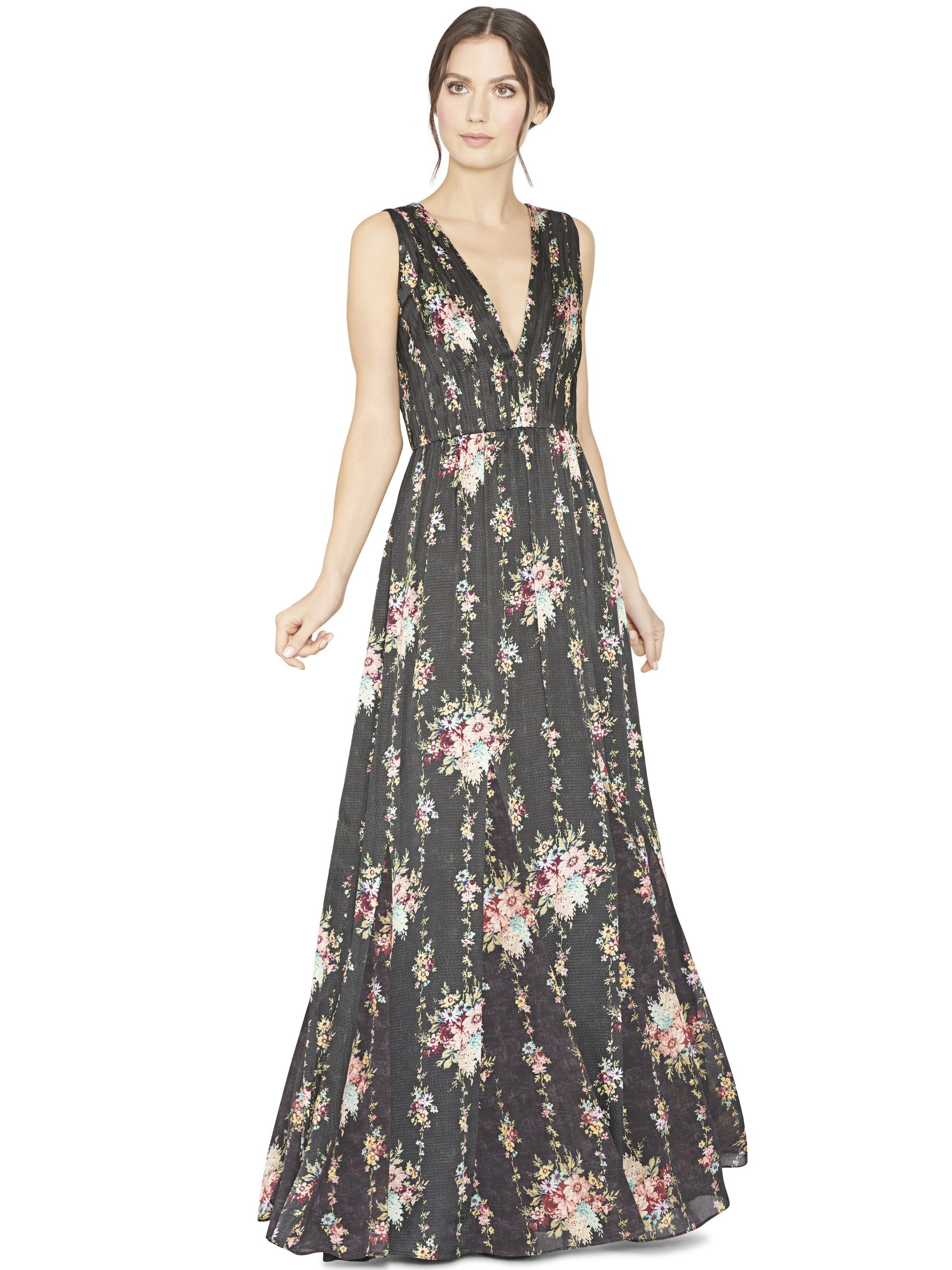 Alice and olivia ava maxi dress vintage bouquetblack