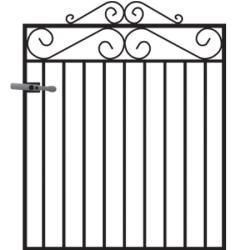 Marlborough High Wrought Iron Metal Garden Gate At Cannock Gates