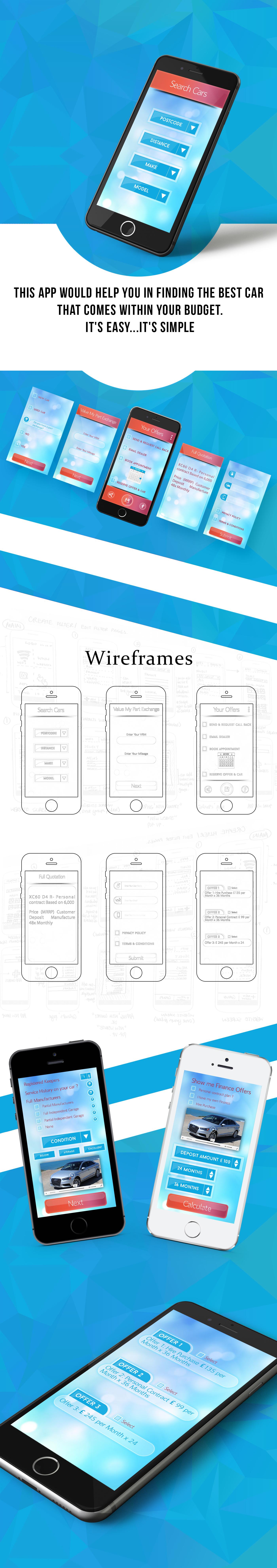 Free Car Finder App Mockup On Behance Ui Design Mobile App Ui