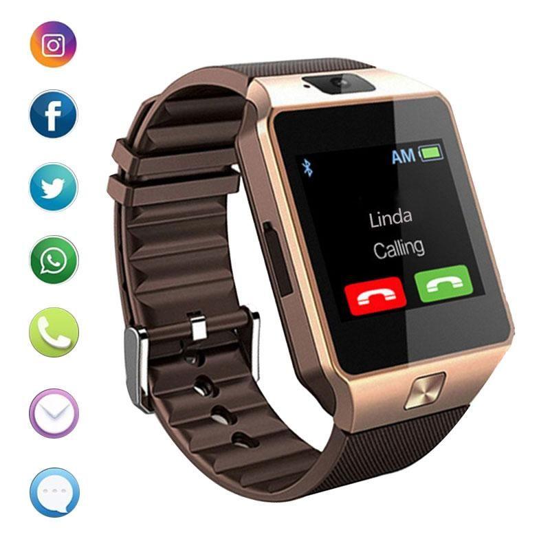 Bluetooth smart watch dz09 phone with camera sim tf card