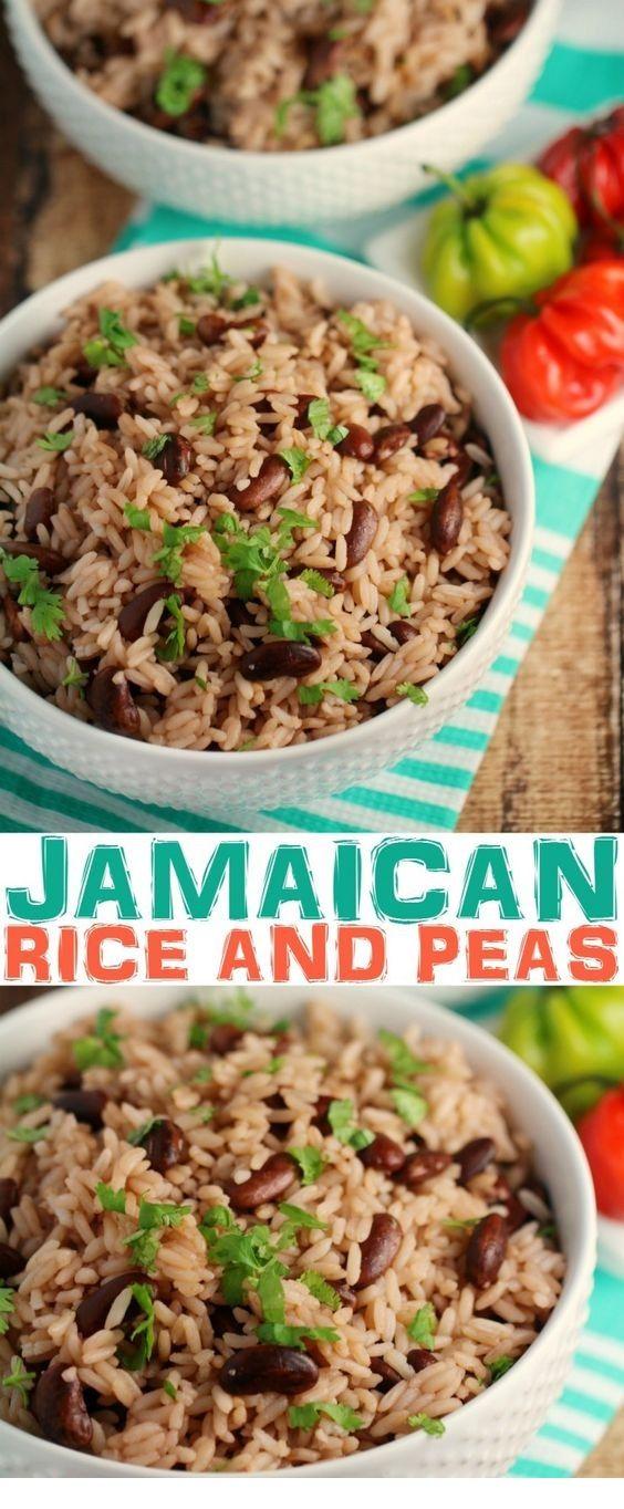 jamaican rice and peas  recipe  pea recipes jamaican dishes