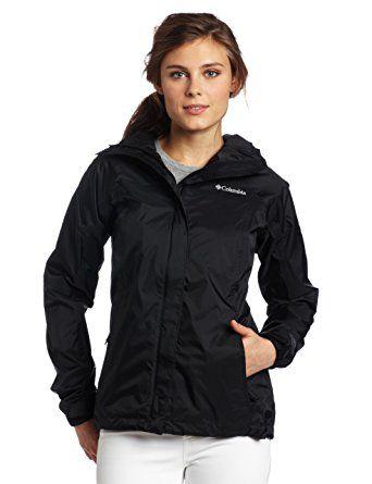 2f1be770db5 Columbia Women's Arcadia Rain Jacket, Black, X-Small Review   Trench ...