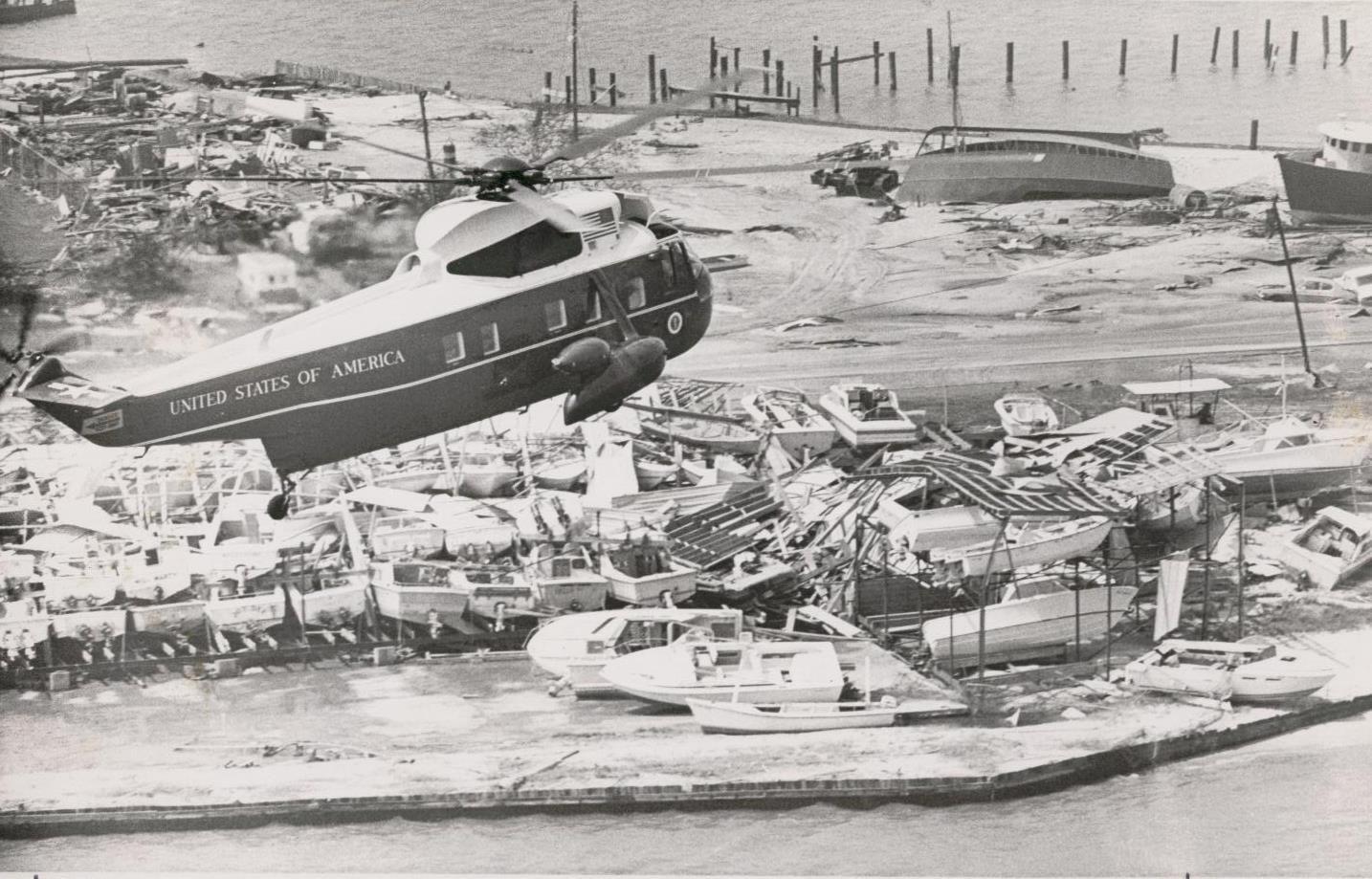 Hurricane Frederic Cat 4 President Carter Surveying The Damage 1979 Pensacola Beach Pensacola Pensacola Fl