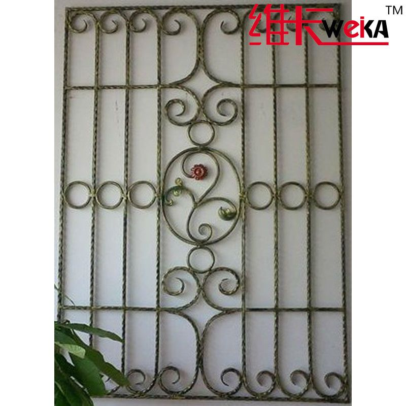High quanlity security iron window grills windows for Window design of iron