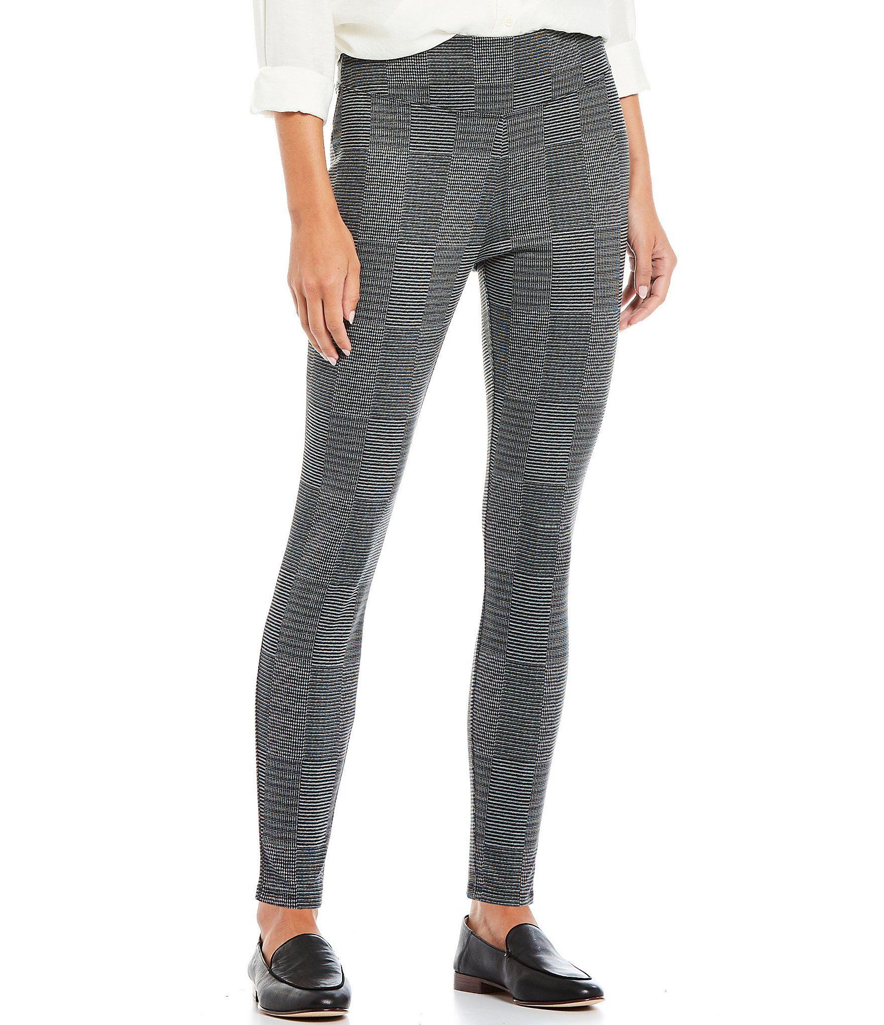 Westbound Patchwork Stripe Leggings - Grey Patchwork M #stripedleggings