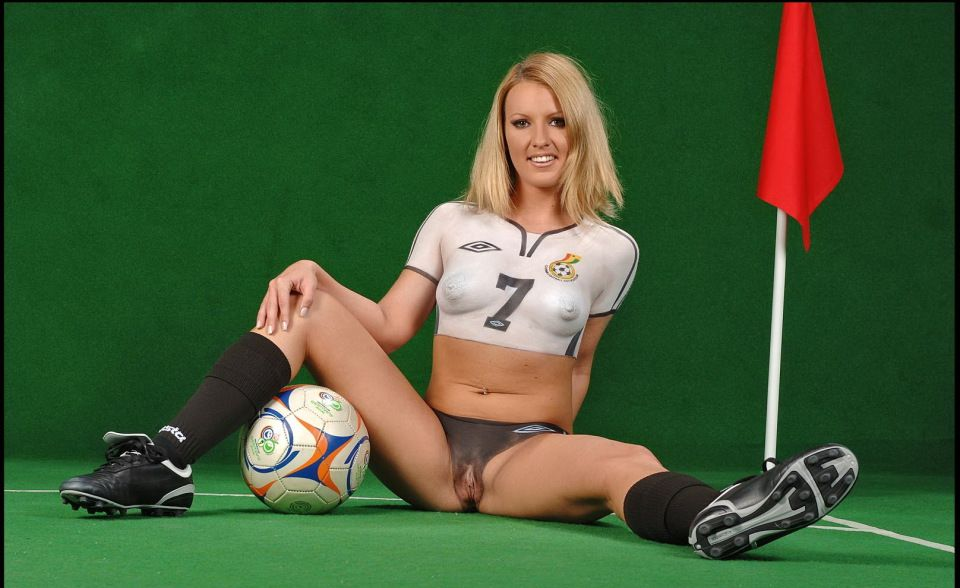 Body paint soccer girls naked 960X588 jpeg