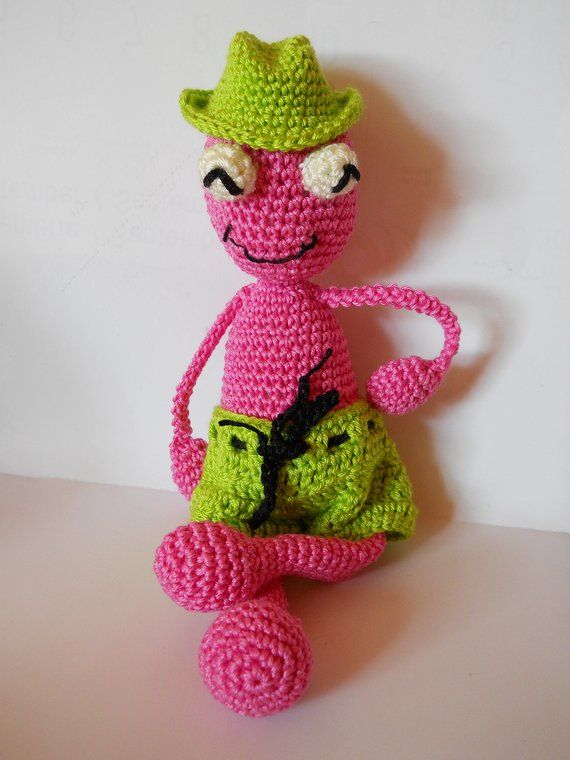 Amigurumi crochet pattern Mr.frog