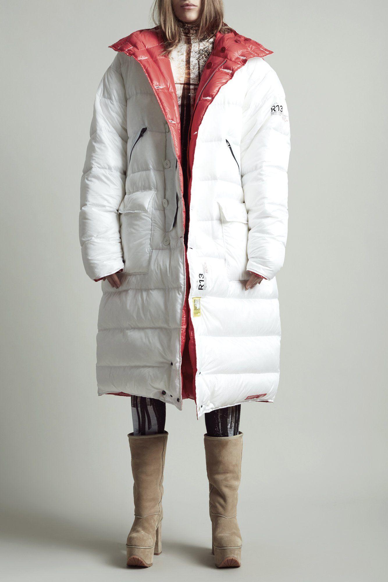 Long Anorak Puffer Jacket White Red Long Anorak Jackets Puffer Jackets [ 2000 x 1334 Pixel ]