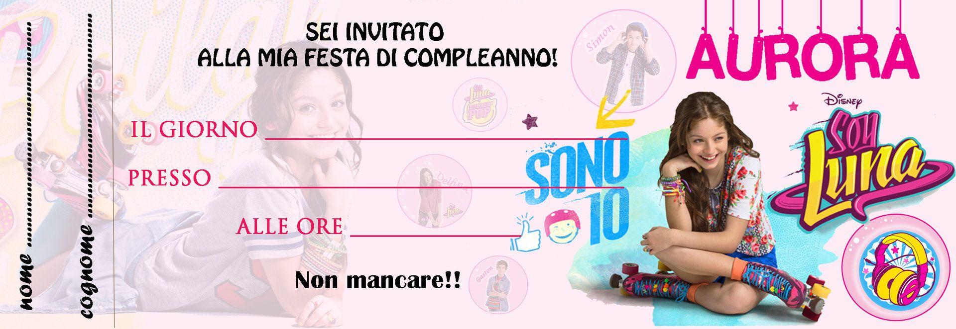 Inviti Soy Luna Inviti Per Feste Personalizzabili Pinterest