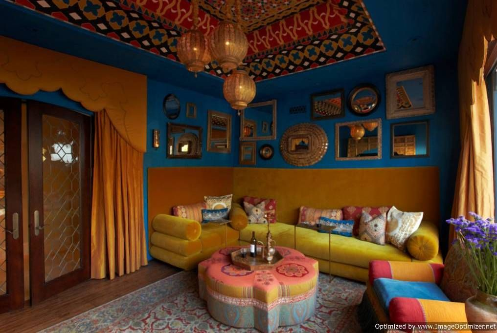 Home Design And Decor , Indian Style Interior Design : Bold Indian Style  Interior Design