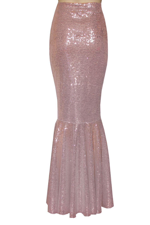d22653129 Rose gold prom skirt. Mermaid sequin skirt. Evening plus size skirt ...