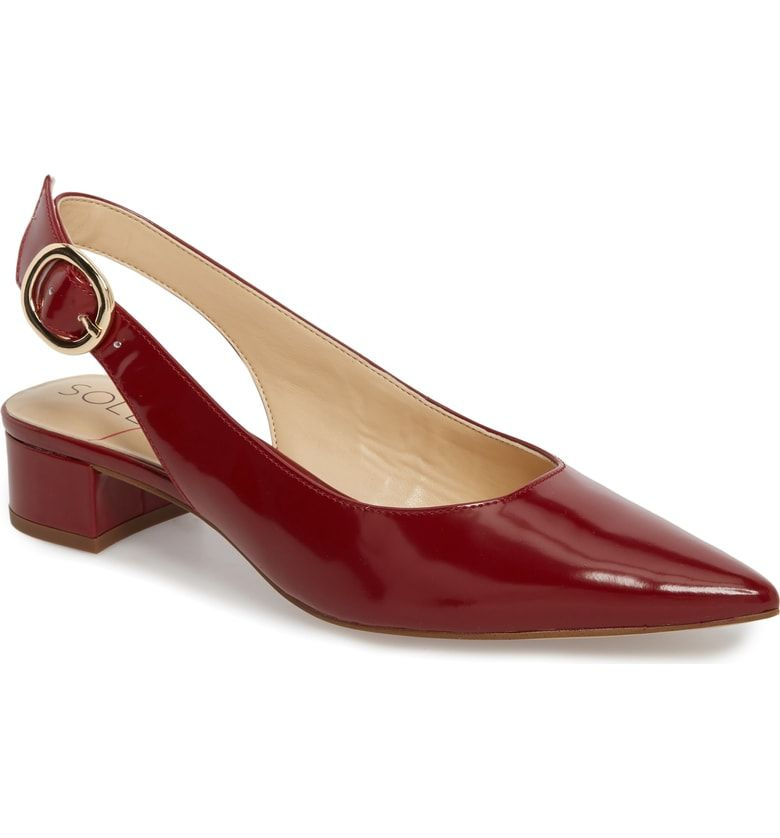 c24e4916109 Free shipping and returns on Sole Society Mariol Slingback Pump (Women) at  Nordstrom.com. This block-heel pump is styled with a wide slingback strap  to ...