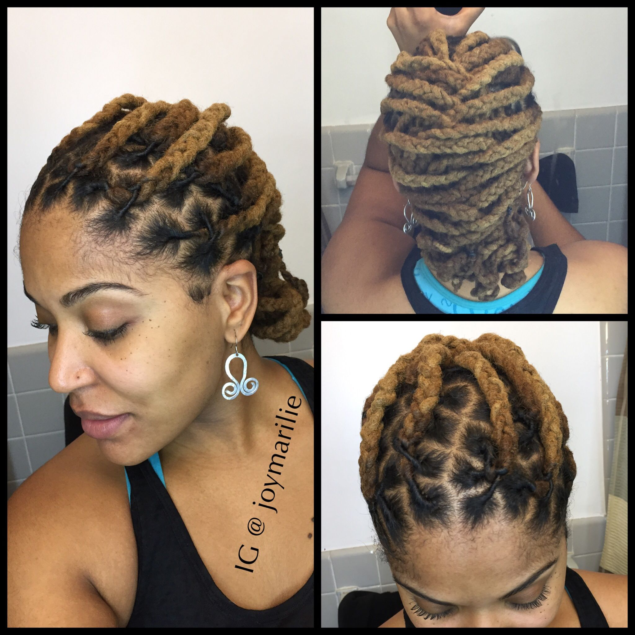 Workout loc style locs pinterest hair styles hair and natural