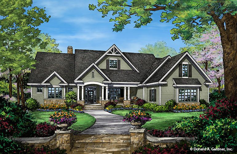 The Travis House Plan By Donald A Gardner Architects Craftsman Style House Plans Craftsman House Plans Ranch Style House Plans