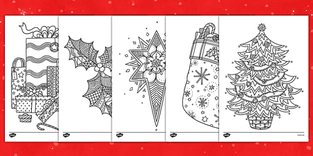 Christmas Themed Mindfulness Colouring Christmas Coloring Pages Mindfulness Colouring Christmas Colors