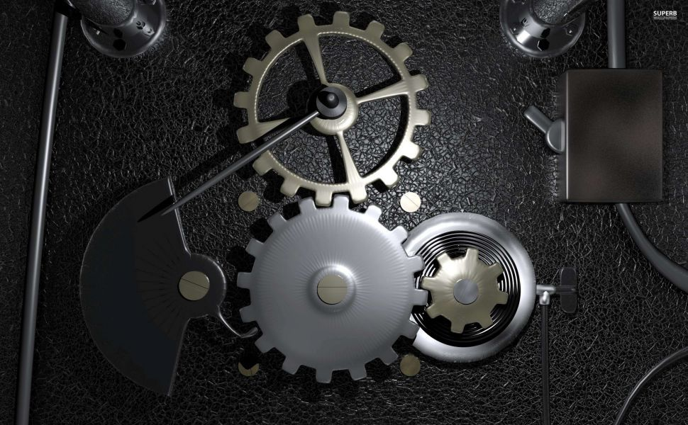 Gears In A Machine Hd Wallpaper Mechanical Engineering