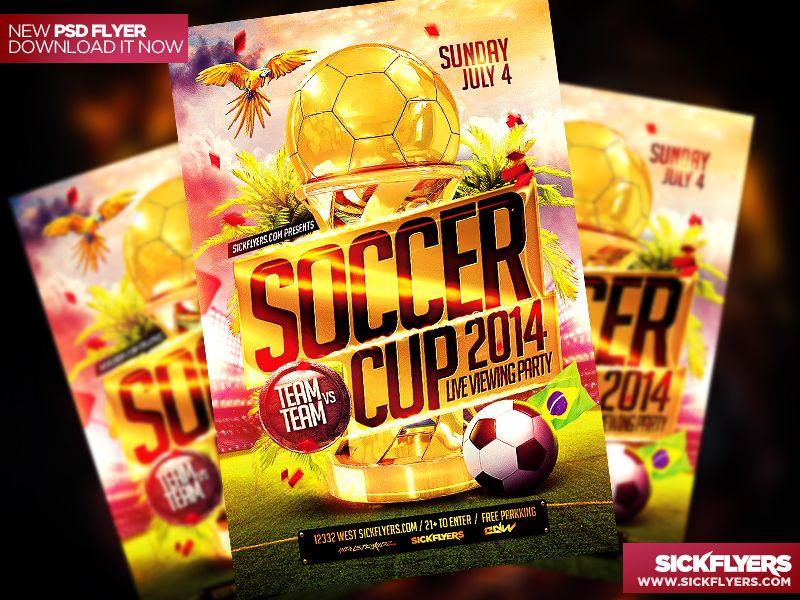 Soccer Flyer Template Psd By Industrykidz  Dribbble Psds