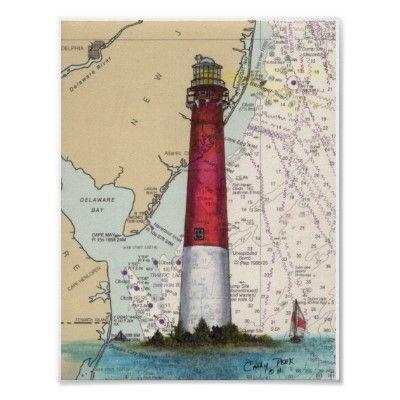 Barnegat Lighthouse Nj Map Atlantic Sailboat Print Lighthouse Art Barnegat Lighthouse Lighthouse