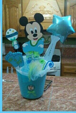 Centro De Mesa Baby Shower Mickey Bebe Ideas Para Tu Fiesta