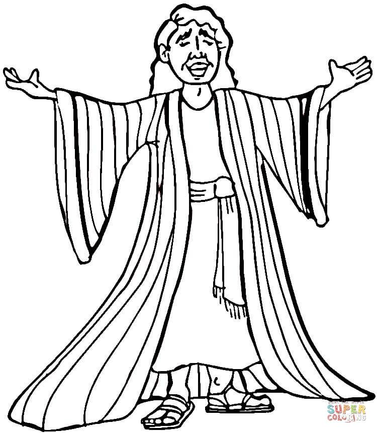 Image result for coloring pages joseph and the coat of many colors ...
