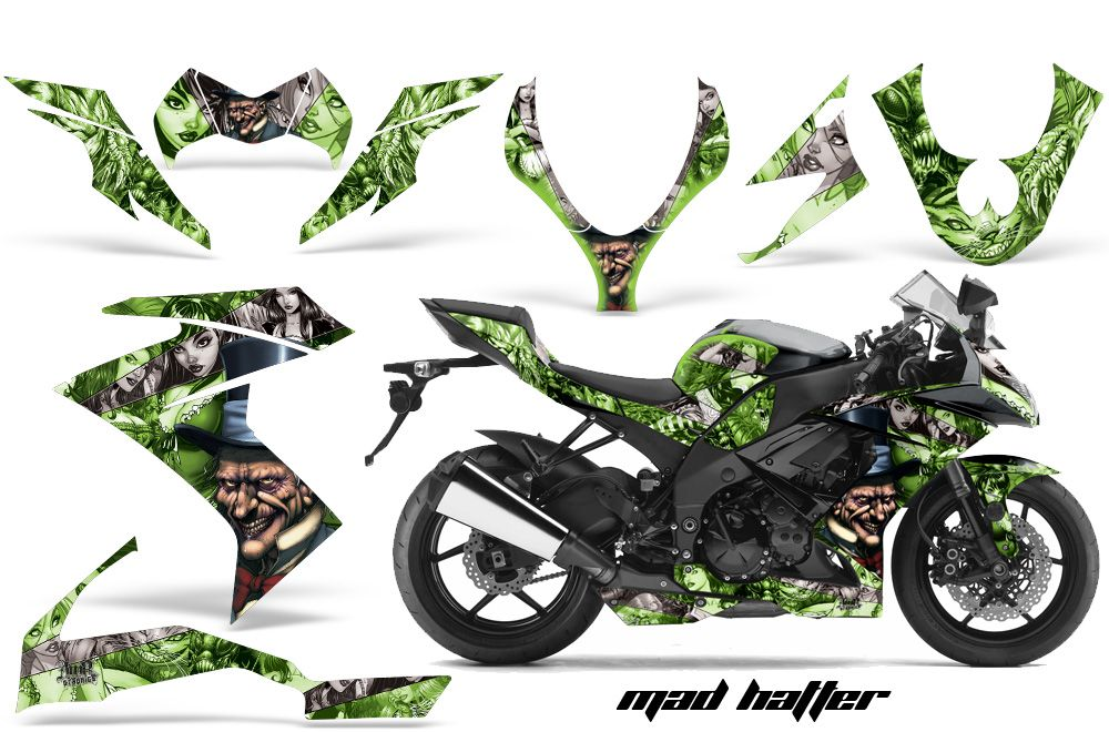 Kawasaki ZX Ninja Street Bike Graphic Decal - Kawasaki motorcycles stickers