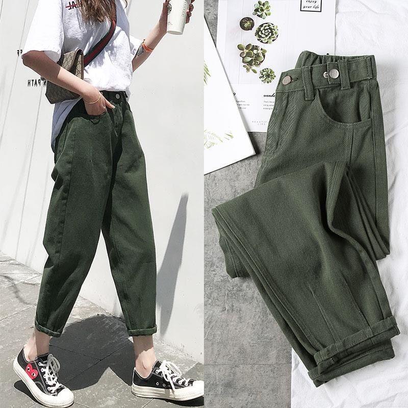 Pin By Auroraguillen On Pantalones De Moda In 2021 Women Jeans High Waisted Denim Summer Pants Women