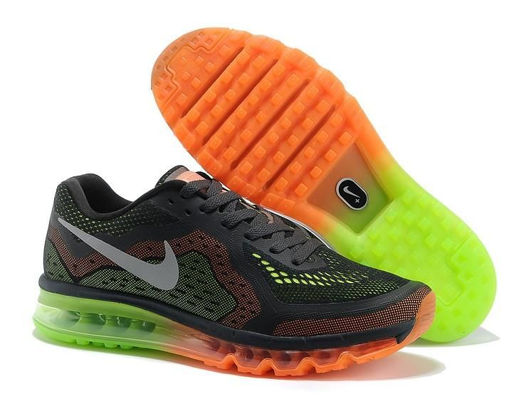 Authentic Nike Shoes For Sale, Buy Womens Nike Running Shoes 2014 Big  Discount Off Nike Air Max 2014 Mens Black Fluorescent Green Orange Shoes [ -