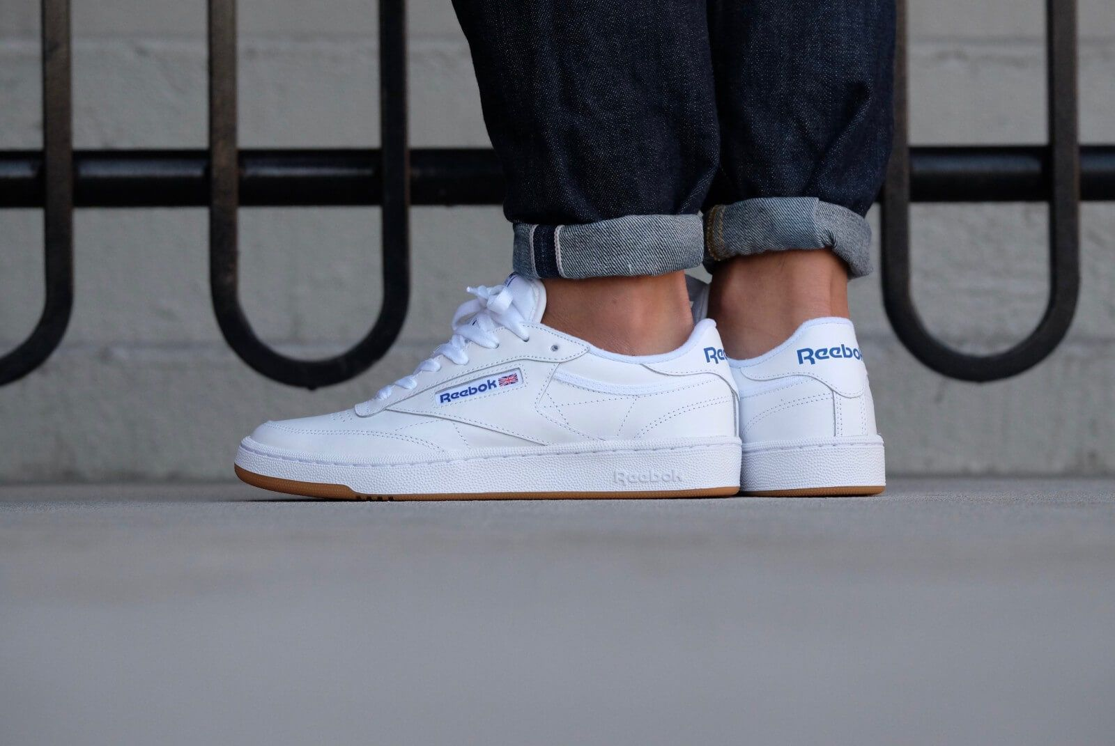 best service b6219 ef614 REEBOK Club C85 White Royal