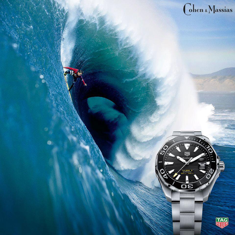 Tag Heuer Aquaracer Black Face Stainless Steel Quartz Watch 43mm