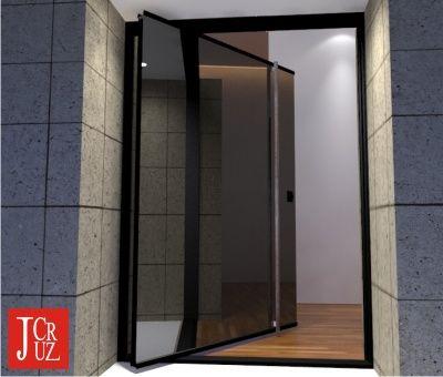 a sublime pivoting door for modern homes - Modern Exterior Metal Doors
