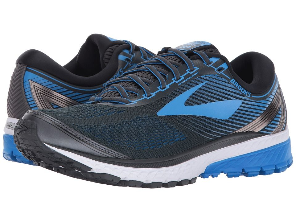1c28ac0cbc86d Brooks Ghost 10 Men s Running Shoes Ebony Metallic Charcoal Electric Brooks  Blue