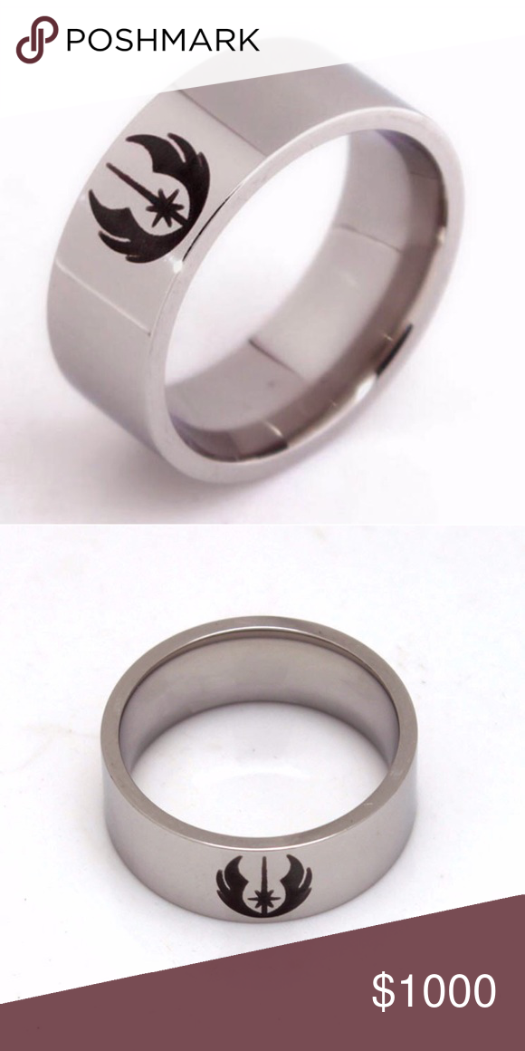 Coming Soon ⭐️! Stainless Steel Jedi Ring Brand new size 10 stainless steel ring with Jedi emblem. (Once this listing is available for purchase the price will be dropped to the correct price and if you have liked the listing you will be notified) #starwars #star wars #luke skywalker #yoda #obi wan kenobi #the force #disney Jewelry Rings