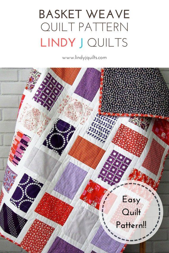 Basket Weave Quilt Pattern Easy Quilt Pattern Beginner Quilt Delectable Basket Weave Quilt Pattern