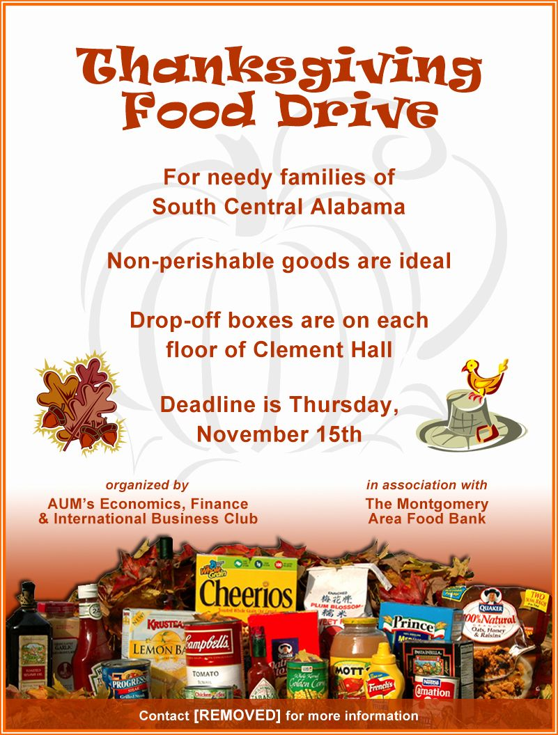 24 Food Drive Flyer Template Free in 2020 Food drive
