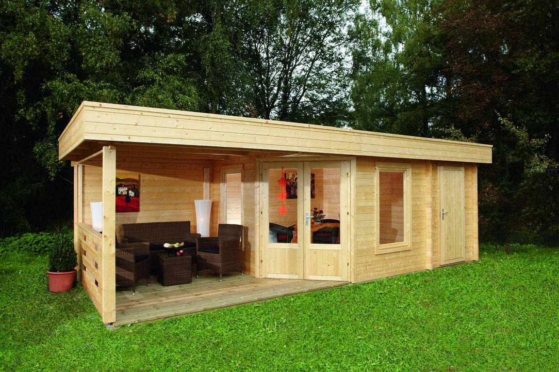 Das 5-Eck-Gartenhaus Nina mit überdachter Terrasse - nicht nur ein ...