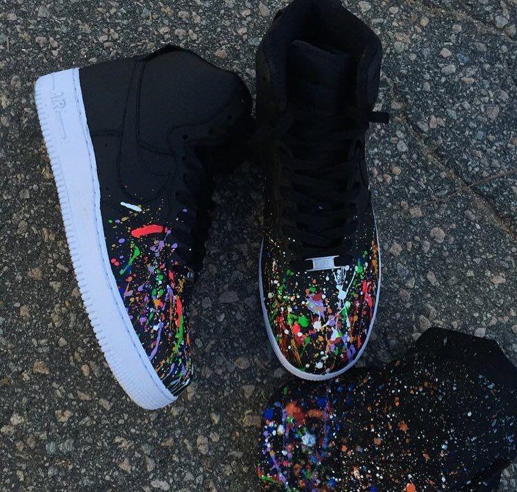 Nike Air Force 1 Colorway Custom Sneakers   Kicks shoes
